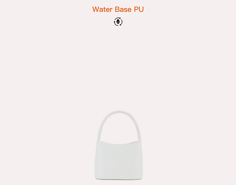 White vegan water base croc polyurethane crossbody bag front view