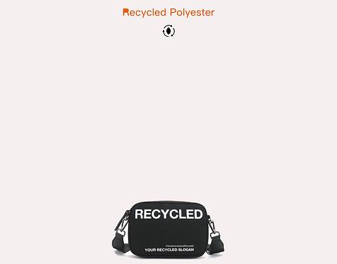 recycled polyester crossbody bag slogen