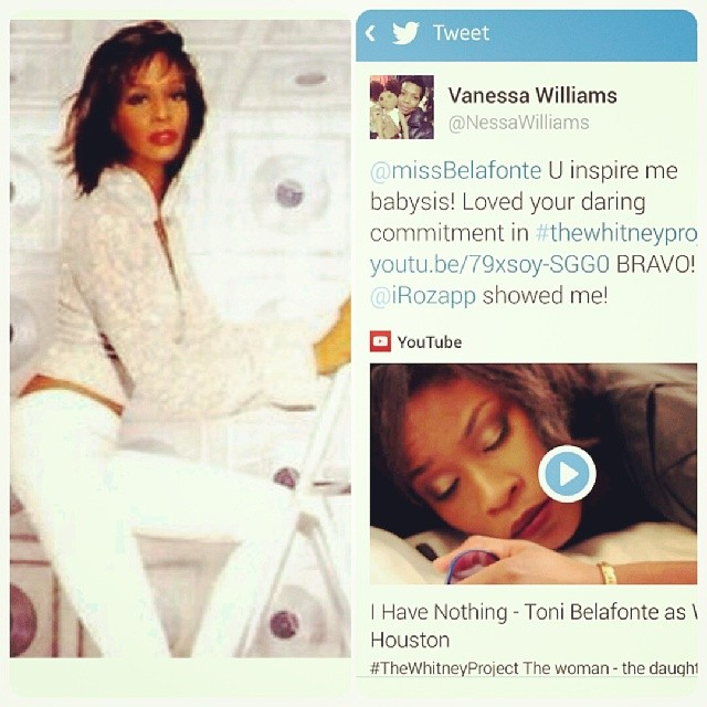 Have you seen her #WhitneyHouston Toni Belafonte in,_#TheWhitneyProject__#WhitneyWednesday (on Thurs