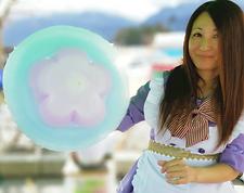 コットンマジックの綿菓子アートはファミリー層には大人気なイベントです。