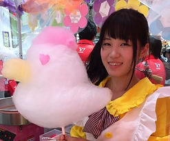 コットンマジックの綿菓子アート