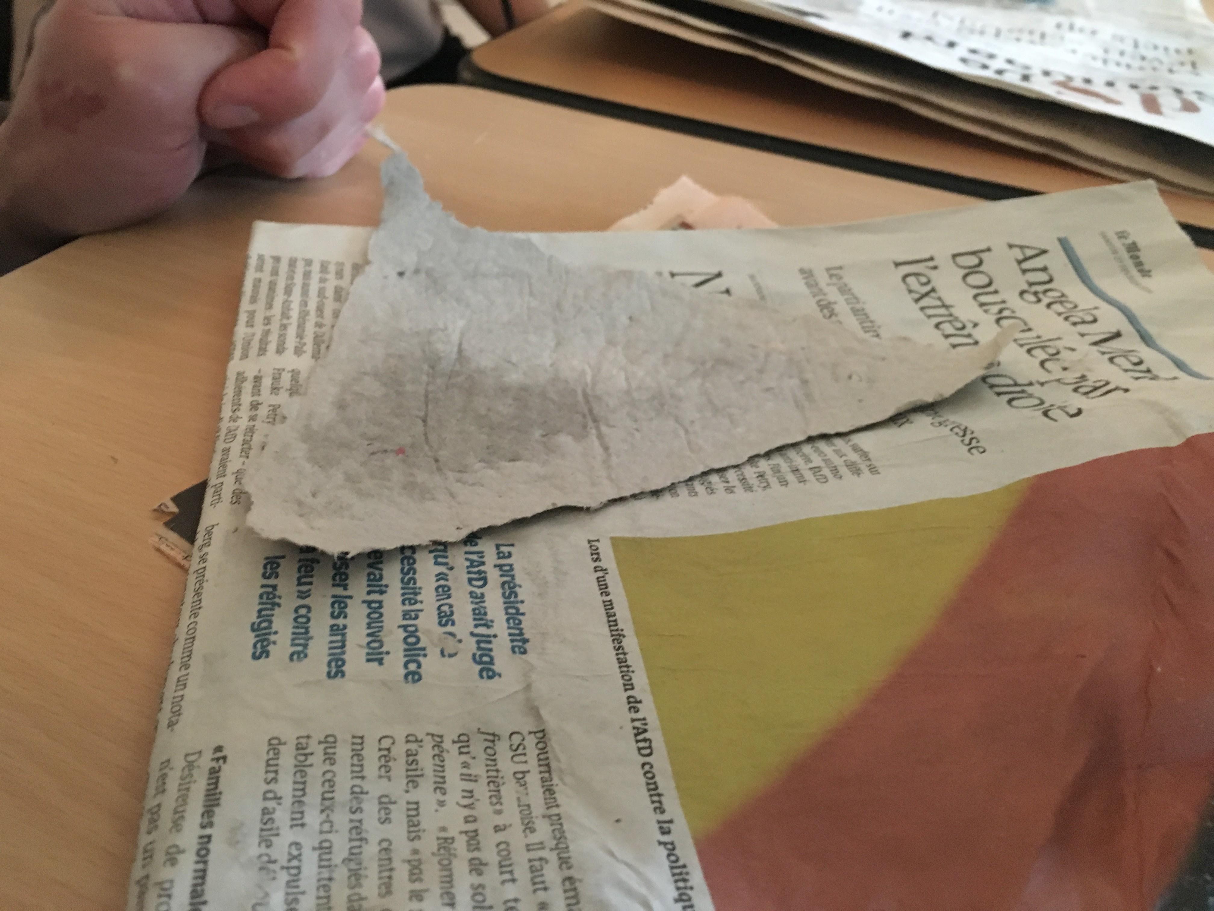 Fabrication de papiers recyclés