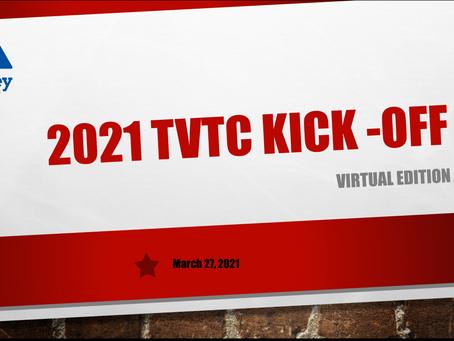 2021 TVTC Kick Off - Virtual Edition! Saturday, March 27, 2021