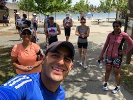 Francisco Coaching a Run