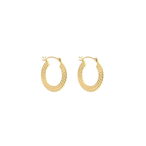 Braided Hoops gold - 15 mm