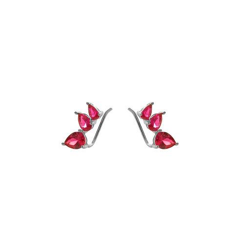Pink zirconia climber silver