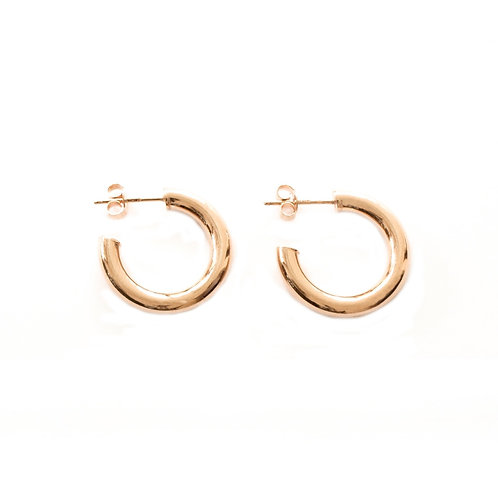 Tubular Hoops rose gold - 15 mm