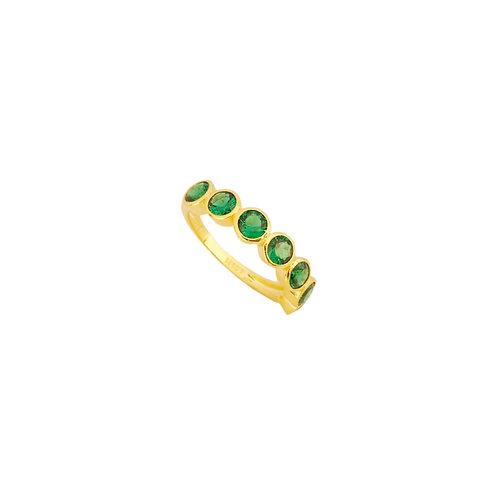 Seven green zirconia gold