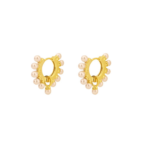 Pearls hoop gold