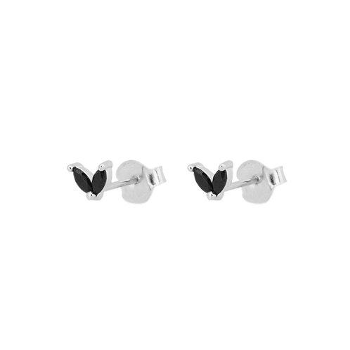 Black zirconia petals silver