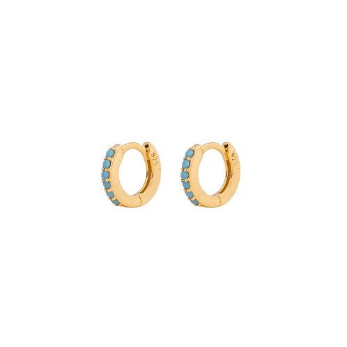 Turquoise mini hoop gold