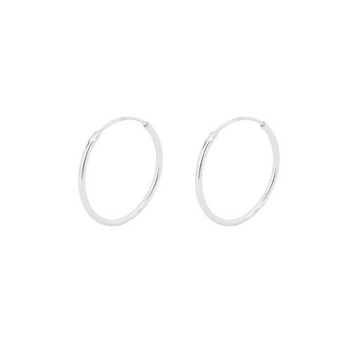20 mm hoop silver