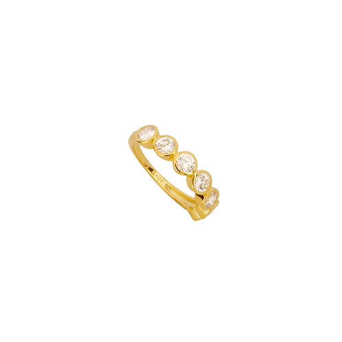 Seven white zirconia gold