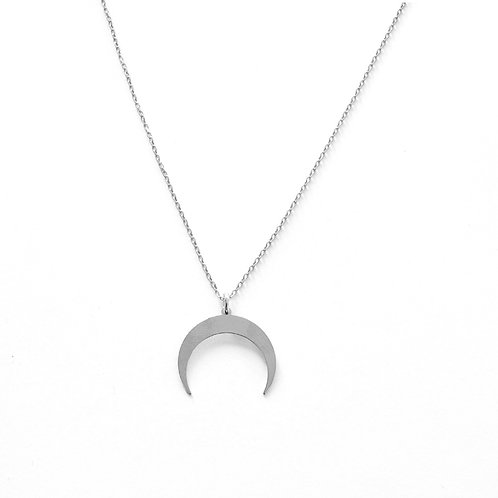 Moon shape silver