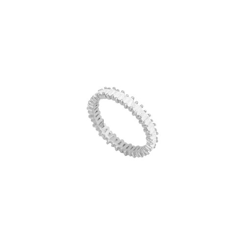 Zirconia mini baguettes silver