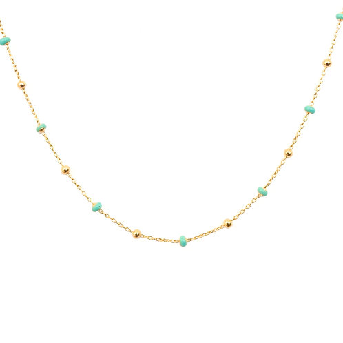 Turquoise dots gold
