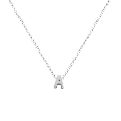 Small Initial silhouette silver