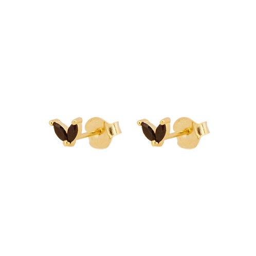Black zirconia petals gold