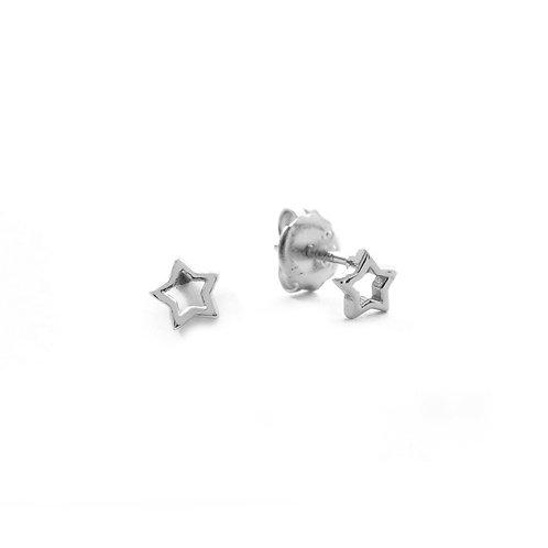 Star silhouette silver