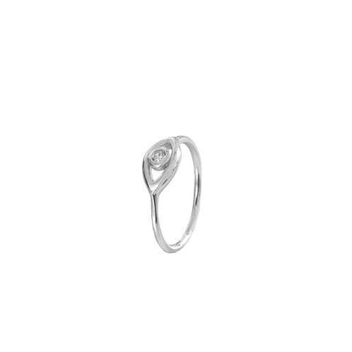 Zirconia eye silver