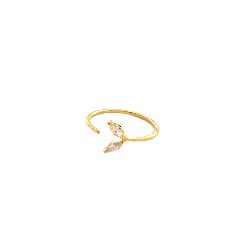Zirconia whale tail gold