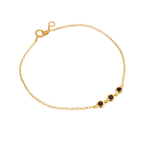 Three black zirconia gold