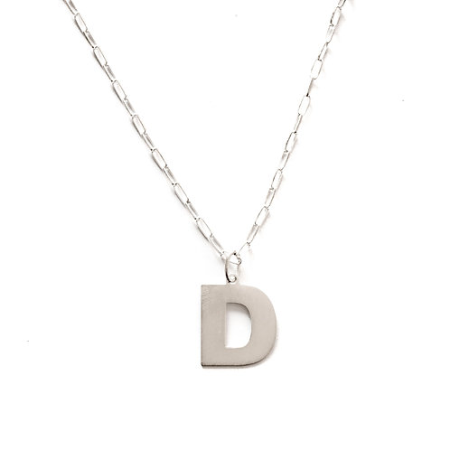 Initial silhouette silver