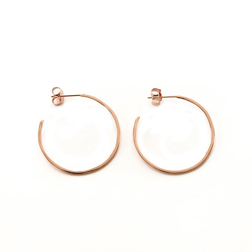 Flat Hoops Rose Gold - 30 mm