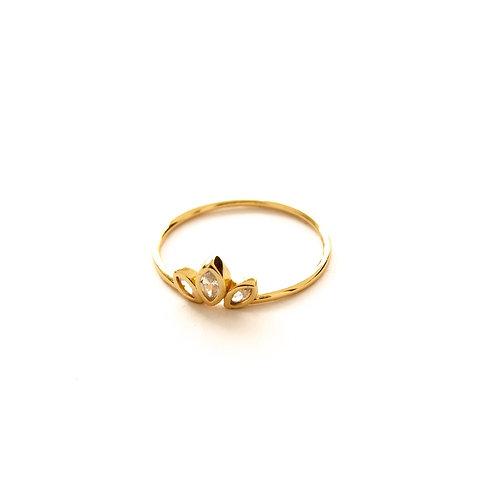 Zirconia crown gold