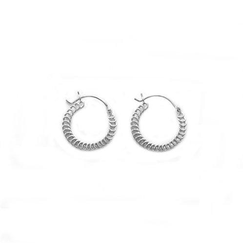 Spiral Hoops silver - 15 mm