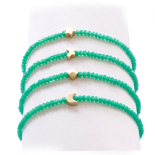 Turquoise green gold