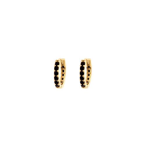 Black zirconia hoop gold
