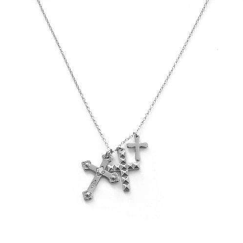 Triple cross silver