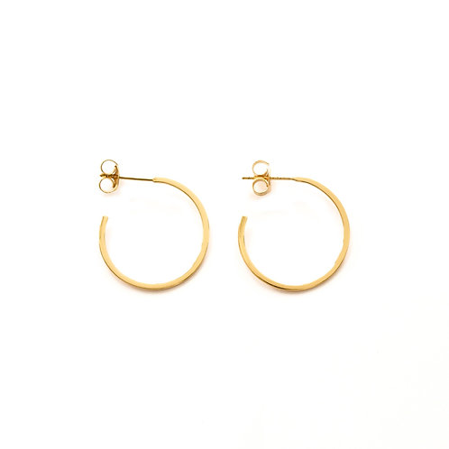 Flat Hoops Gold - 22 mm