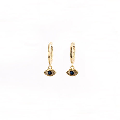 Blue zirconia eye gold