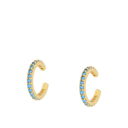 Turquoise middle ear cuff gold