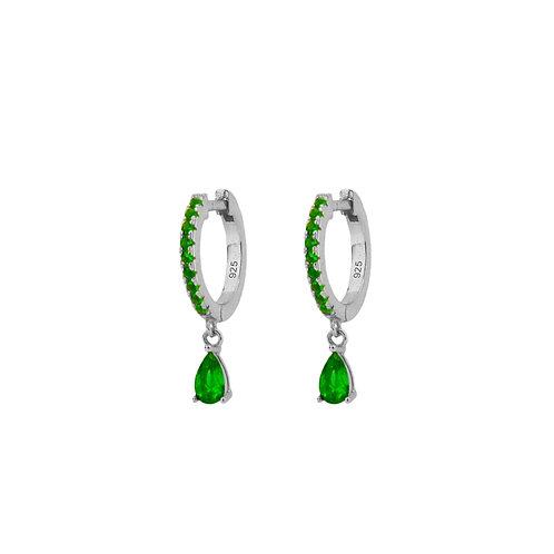 Green zirconia tear hoop silver