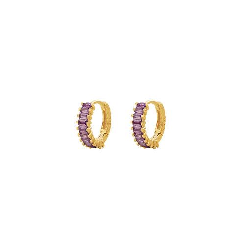 Violet zirconia baguette gold