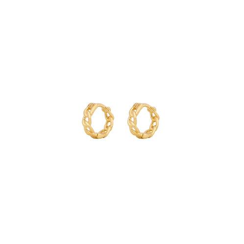 Chain mini hoop gold
