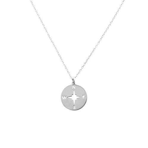 Compass rose silver - 15 mm