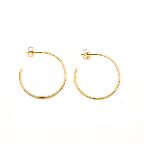 Flat Hoops Gold - 30 mm