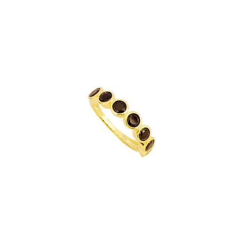 Seven black zirconia gold