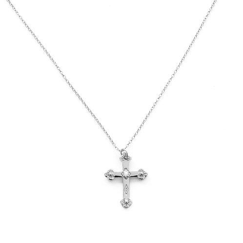 One zirconia cross silver