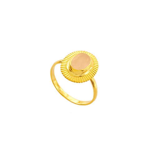 Pink chalcedony gold