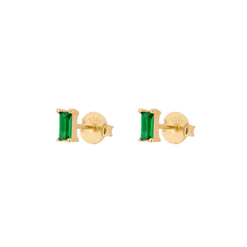 Green zirconia rectangle gold