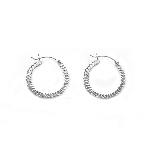 Spiral Hoops silver - 20 mm