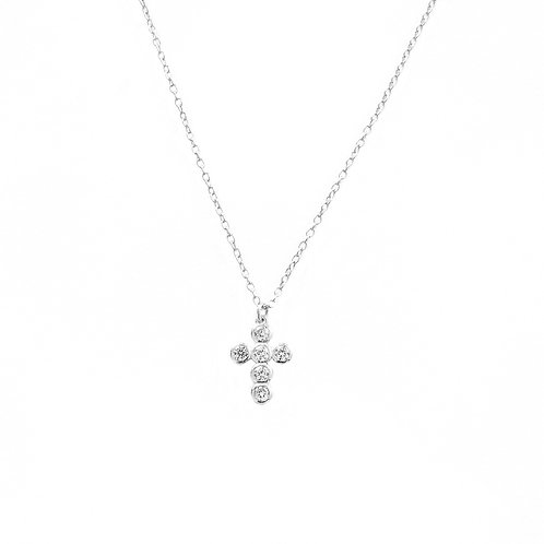 Zirconia cross silver