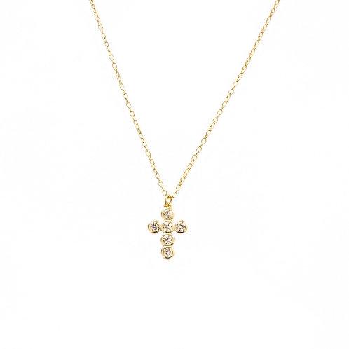 Zirconia cross gold