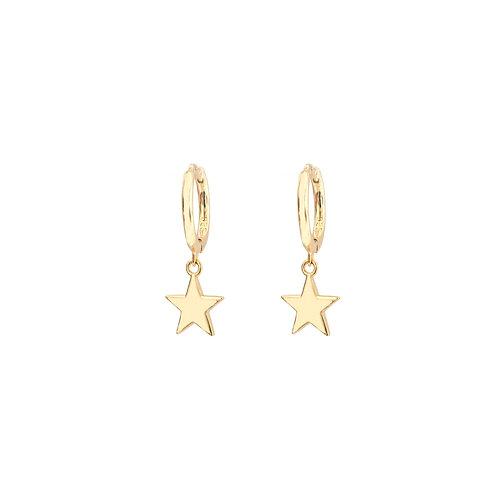 Star hoop gold