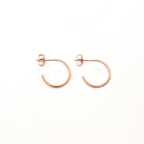 Flat Hoops Rose Gold - 16 mm